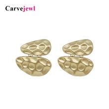 Carvejewl oval drop earrings geometrical shape simple fashion vintage Earrings for women jewelry post big gold hot