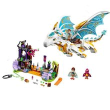 girls bricks Queen Dragon's Rescue The Elf Series Building Blocks Compatible with Lego elves 41179 Girls Assembled Block Toys(China)