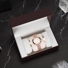 Top Designer 3 PCS Women Bracelet Watch Set Include 2 PCS Bracelet/1 PCS Watches/1 PCS Watch box Big Gift Set for girlfriend hot