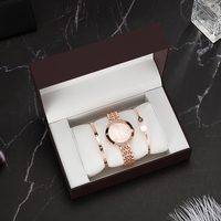 Top Designer 3 PCS Women Bracelet Watch Set Include 2 PCS Bracelet/1 PCS Watches/1 PCS Watch box Big Gift Set for girlfriend hot