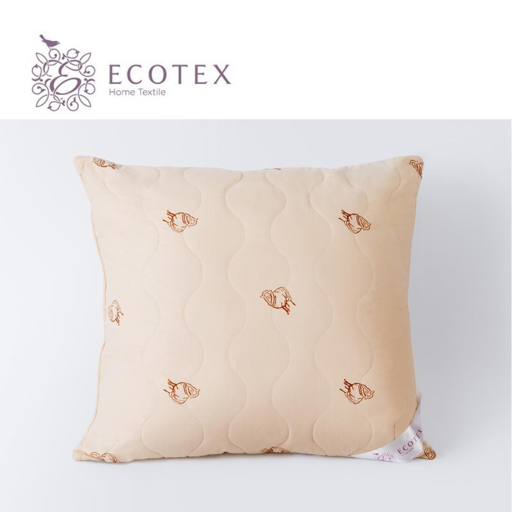 Pillow Golden fleece collection Premium. Size 68X68. Production company Ecotex(Russia). pillow argo collection premium production company ecotex russia
