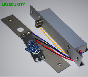Image 2 - LPSECURITY Fail secure DC12V Deadbolt Electric Drop Bolt Plug Narrow Door Access Lock 5 wires timer low temp lock power off