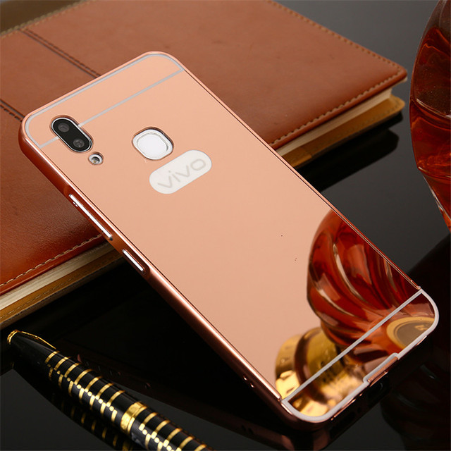 new product aa54c 90669 US $2.87 10% OFF|Luxury Aluminum For Vivo V9 Case Vivo Y85 Phone case Metal  Frame Acrylic Rose Gold Mirror Back Cover For vivo v9 Case 6.3 inch-in ...