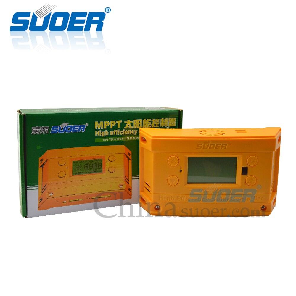 Suoer【 MPPT Laderegler 】12V/24V Solar System Batterie Laderegler 30A MPPT Solar Laderegler Manuelle (ST-H1230)