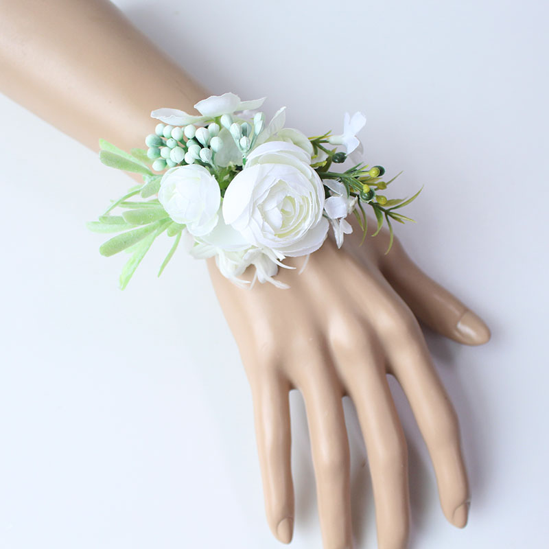 wrist flower bridesmaid wedding wrist corsage (3)