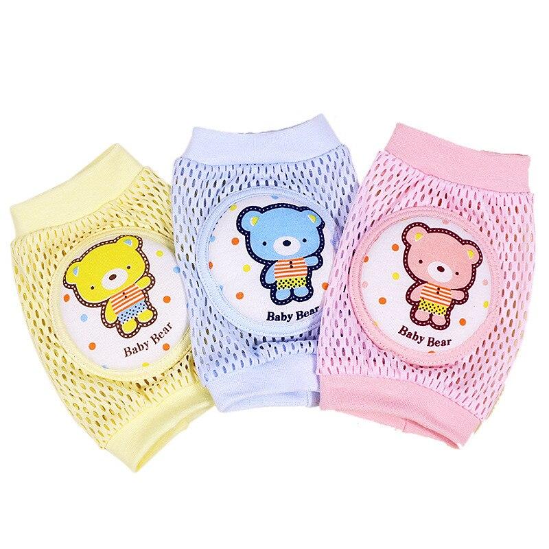 Ideacherry Baby Knee Pads 1 Pair Mesh Soft Pad Newborn Infants Leg Protector Anti-slip Crawling Knees Protector Kids Leg Warmers