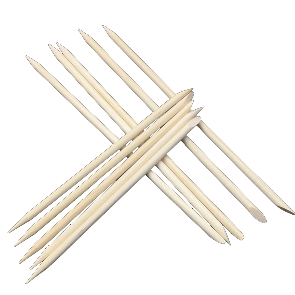 20Pcs Orange Wood Sticks Nail Art Cuticle Stick Pusher Remover Manicure Pedicure Tool-15Cm 15Cm
