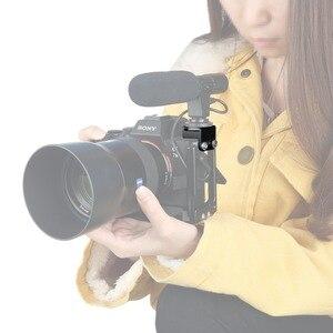 """Image 3 - NICEYRIG Soğuk Ayakkabı Dağı 1/4 """"Vida Sıcak ayakkabı standı kamera kafesi Rig 1/4 Soğuk Ayakkabı Flaş Mikrofon Braketi DSLR Kafes Destek rig"""