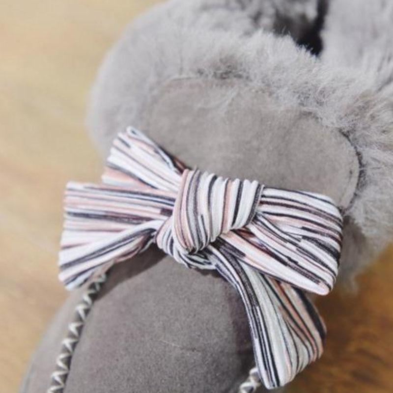Cheville Mode Bowknot Chaussures Chaudes Peluche Noir Neige gris Appartements De En Bottes Fourrure 40 Taille Couleur Femmes Aicciaizzi Mixte 35 D'hiver pq5wf4fx
