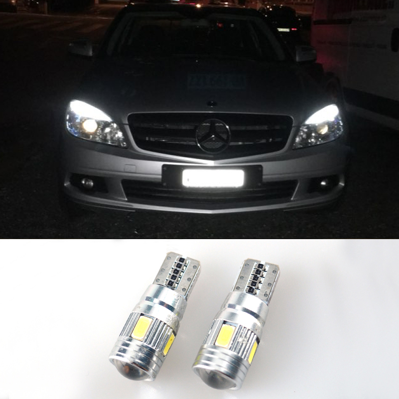 2x t10 w5w led error free clearance light parking bulb for for Mercedes benz parking