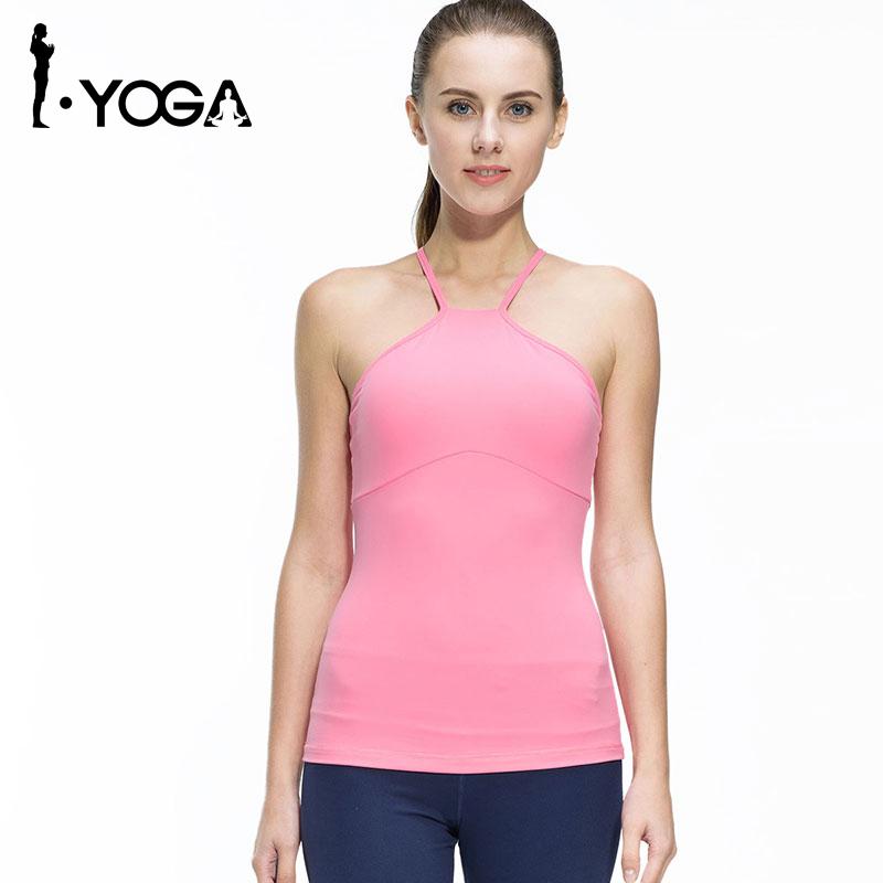 Prix pour Fitness Femmes Chemises Sans Manches Veste De Jogging Gym Sport Courir Vêtements Serrés Yoga Top avec Respirant À Séchage Rapide Spandex