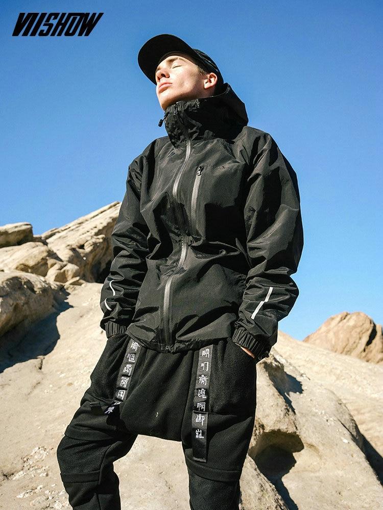 VIISHOW Streetwear Heren Jassen Merk Hooded Jacket Heren Casual Chaqueta Hombre 2018 Nieuw Heren Windjack Veste Homme JC1263171