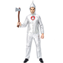 купить Deluxe The Wizard Of OZ Tin Man Costume Cosplay For Men Halloween Costume For Men Adult Carnival Party Fancy Dress Suit по цене 1653.68 рублей