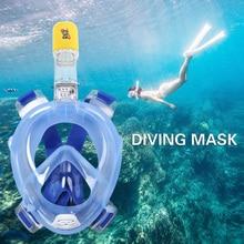 Máscara de Buceo Submarino de buceo Anti Niebla de La Cara Llena Máscara de Buceo Snorkel Snorkel Conjunto con Anillo antideslizante 2017 Nuevo llegada