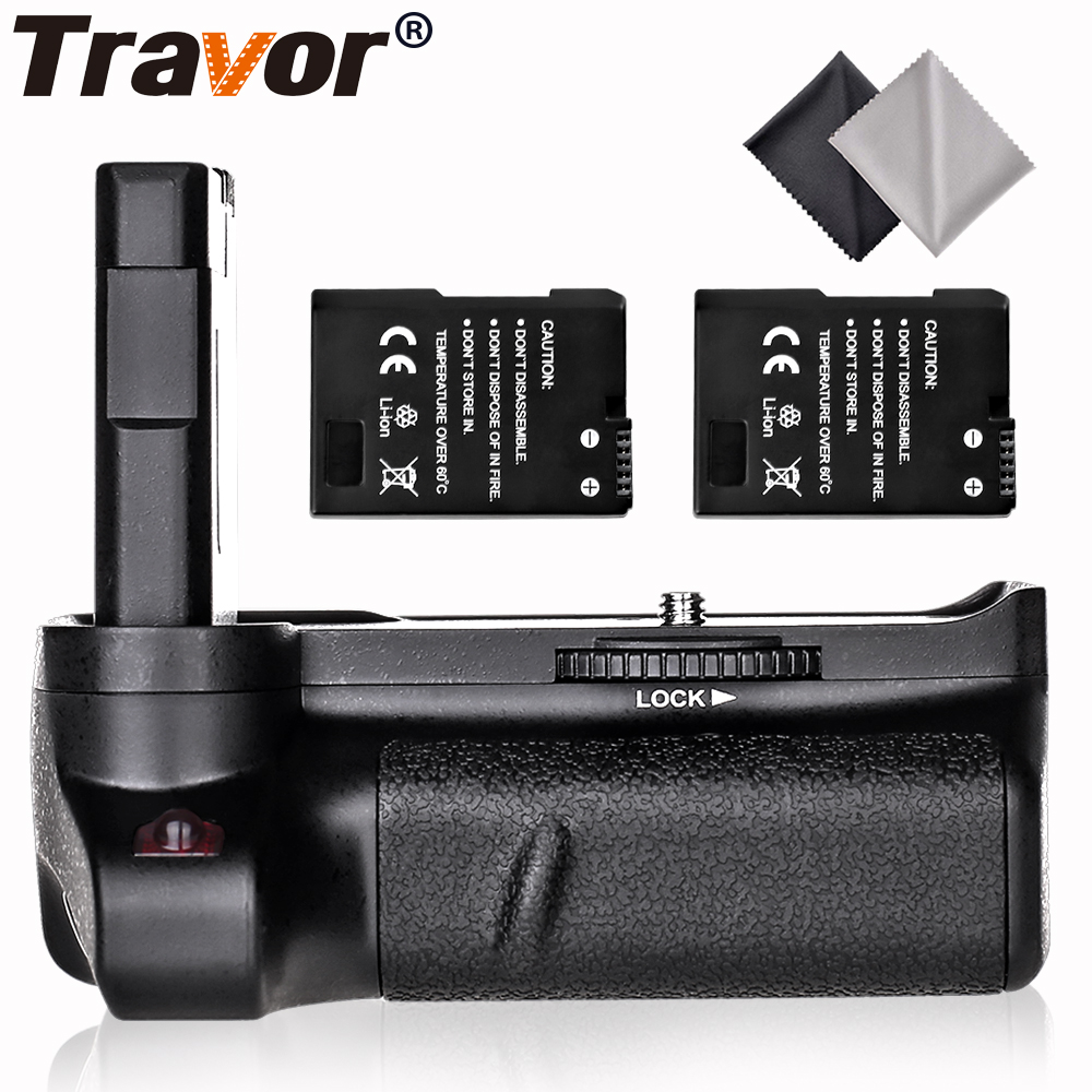 Travor vertical battery grip for Nikon D3400 DSLR Camera 2pcs EN EL14 battery 2pcs Microfiber Cleaning