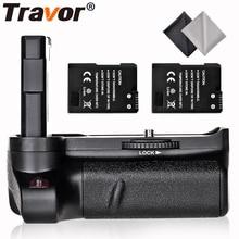 Travor Вертикальная Батарейная ручка для Nikon D3400 DSLR камера+ 2 шт EN-EL14 батарея+ 2 шт микрофибра ткань для очистки