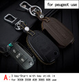 Genuine Leather CAR KEY CASE For PEUPEOT 3008 2008 408 308S 508 Use Automobile Special-purpose CAR KEY HOLDER