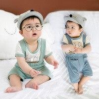 2017 New Shelves Baby Clothing Suit Gentleman Newborn Suits Boys High Quality Cotton T Shirt Strap