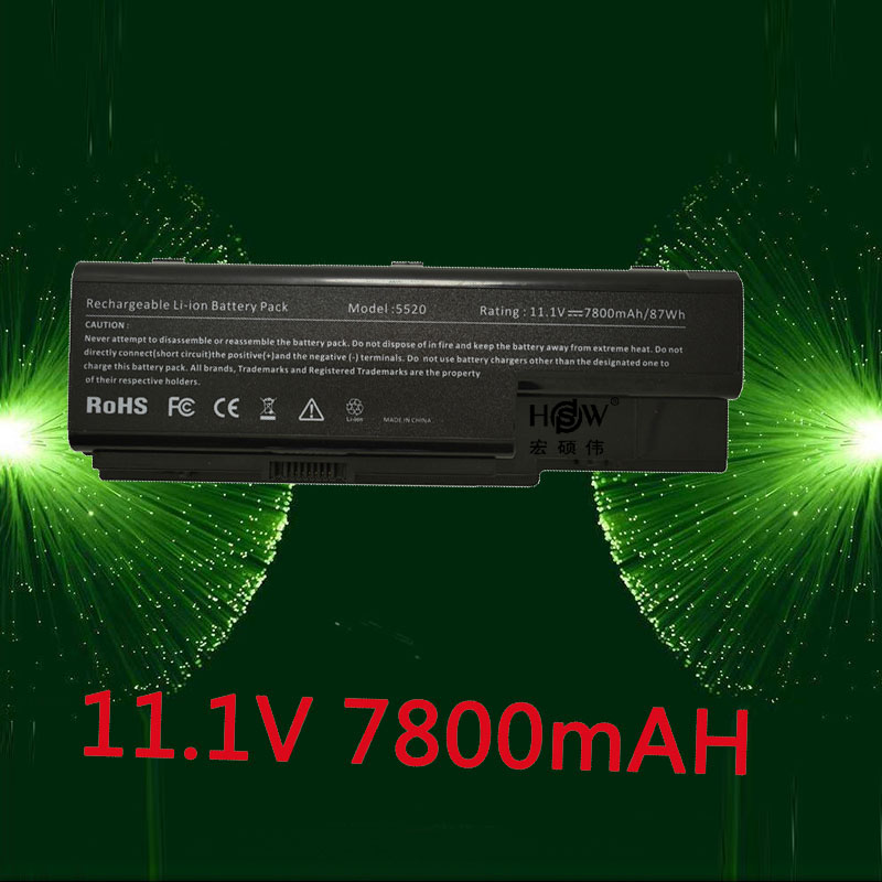 HSW 7800MAH laptop battery For Acer Aspire 5520 5720 5920 6920 6920G 7520 7720 7720G 7720Z AS07B31 AS07B41 AS07B42 AS07B72 golooloo 14 8v battery for acer aspire 5920g 5520g 5315 as07b31 as07b32 as07b42 as07b41 as07b51 as07b52 as07b61 as07b71 as07b72