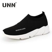 UNN Unisex Summer Running Shoe For Men Woman Sock Footwear Sport Athletic Breathable Mesh Female Sneakers Black