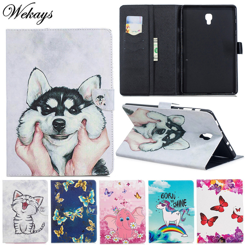 Wekays For Samsung Tab A2 10.5 <font><b>T590</b></font> Cartoon Leather <font><b>Case</b></font> For Samsung Galaxy Tab A A2 10.5 inch 2018 <font><b>SM</b></font> <font><b>T590</b></font> T595 T597 Cover <font><b>Case</b></font> image