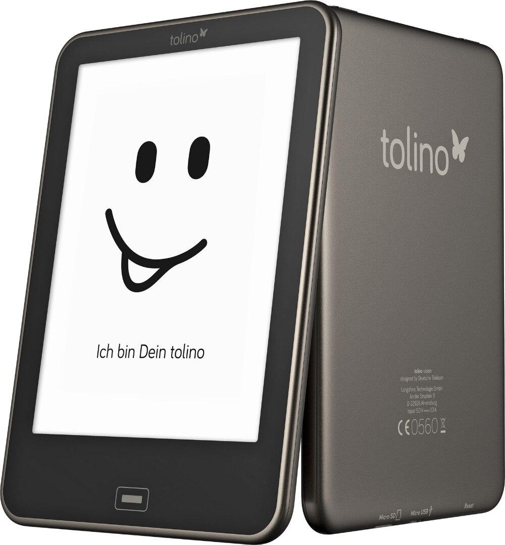 Prix pour Tolino Vision e livre Tactile e-encre 6 pouce HD 1024x758 eBook Reader 4 GB WiFi Éclairage Avant, facultatif à installer Android OS!