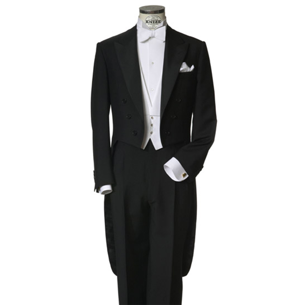 9d42f61606b2db Custom Made to Measure black tailcoats with left chest pocket