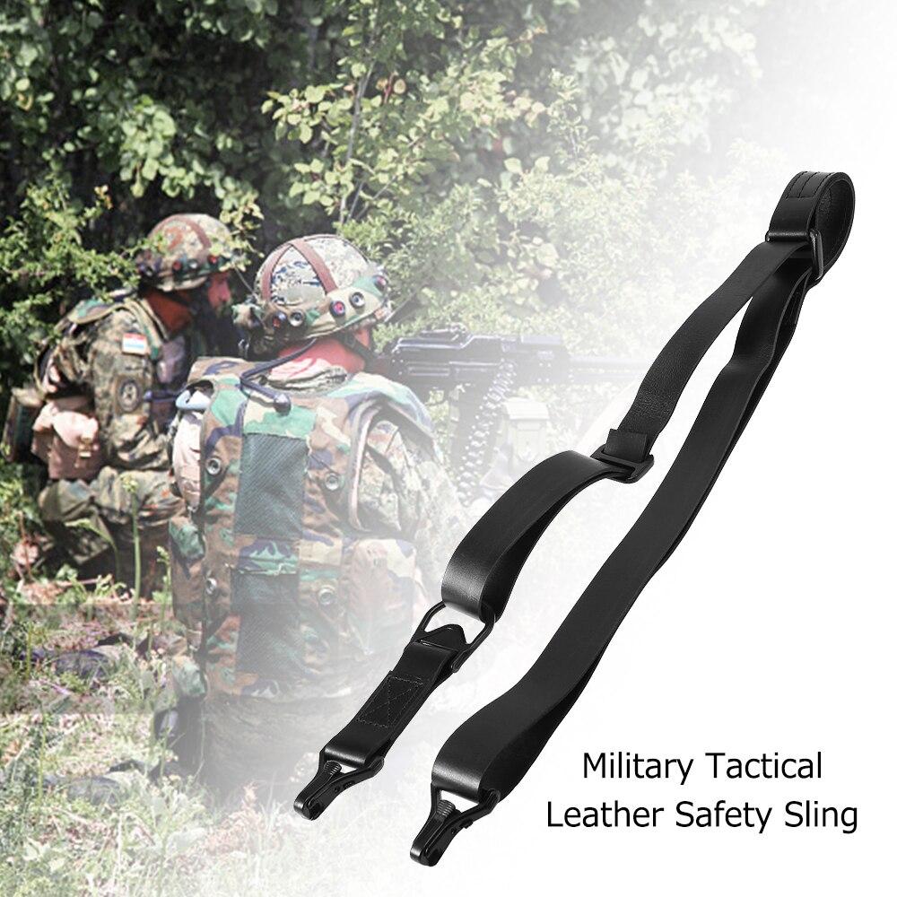 Lixada réglable tactique sangle de chasse sangle multifonctionnelle en plein air militaire tactique ceinture de sécurité tir en cuir sangle de sangle