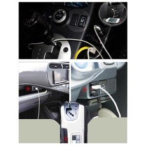 Image 2 - Dual USB Âm Thanh Xe Hơi Dành Cho Xe Toyota 5V 2.1A USB Adapter Sạc Dành Cho Điện Thoại Di Động Dẫn Đường GPS Tracker USB Ổ Cắm