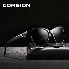 COASION Luxury Brand Design Cat Eye Sunglasses Women Polarized Lady Elegant Retro Sun Glasses Female lentes de sol mujer CA1212