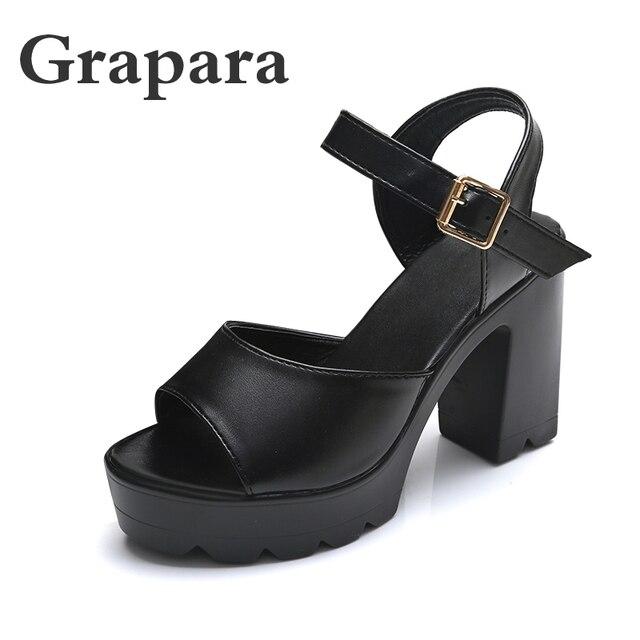 6b42e7160 Hot Selling 2018 New Summer Fashion High Platform Sandals Women Casual  Ladies Shoes China Black White Size EURO 35 to 39 Grapara
