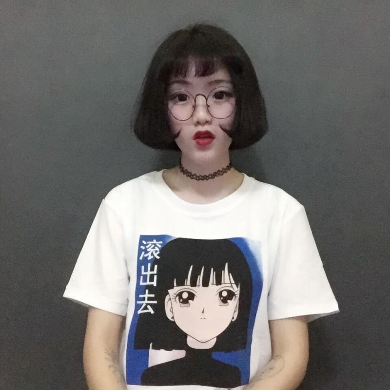2016 Japanese Style Cartoon Girl Printed Cute College Wind -6631