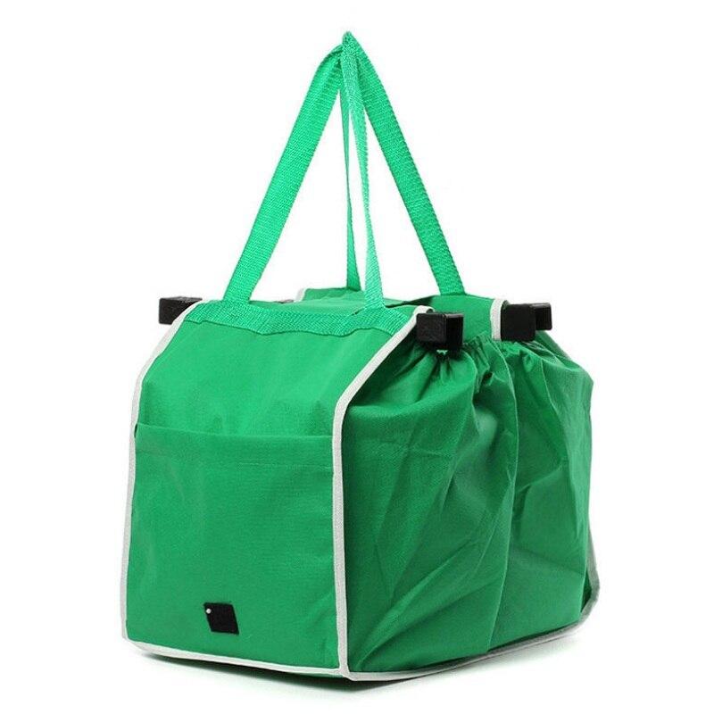 Нетканые многоразовые Бакалея grab bag экологические хозяйственная сумка складная супермаркет большая тележка Сумки для хранения Клип В корз...