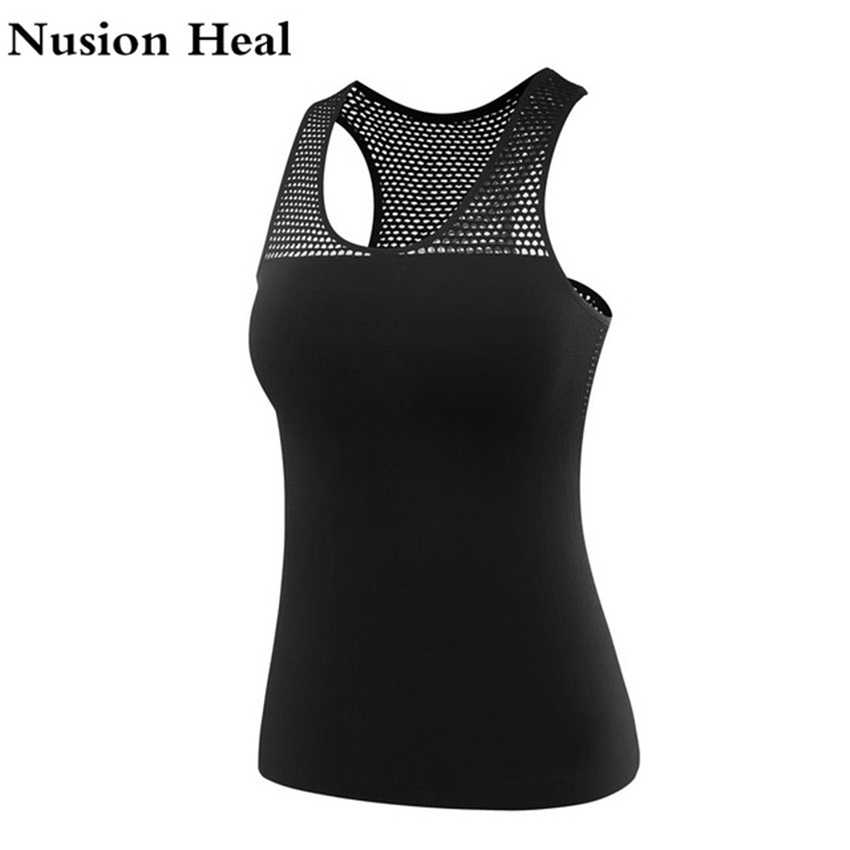 Women Yoga Top Vest Sleeveless Sport Shirt Women Running Gym Shirt Women Sport Fitness Workout Yoga Shirt Tank Top Sportswear