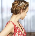 Золото Пресноводных Жемчуг Волосы Расческой Старинные Свадебный Волосы Ювелирные Изделия Свадьба Комбс Аксессуары Цветок Женщины Головные Уборы