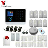 YobangSecurity English German WIFI 3G SIM Wireless Home Office Business Security Alarm System with Wireless Siren Panic Button