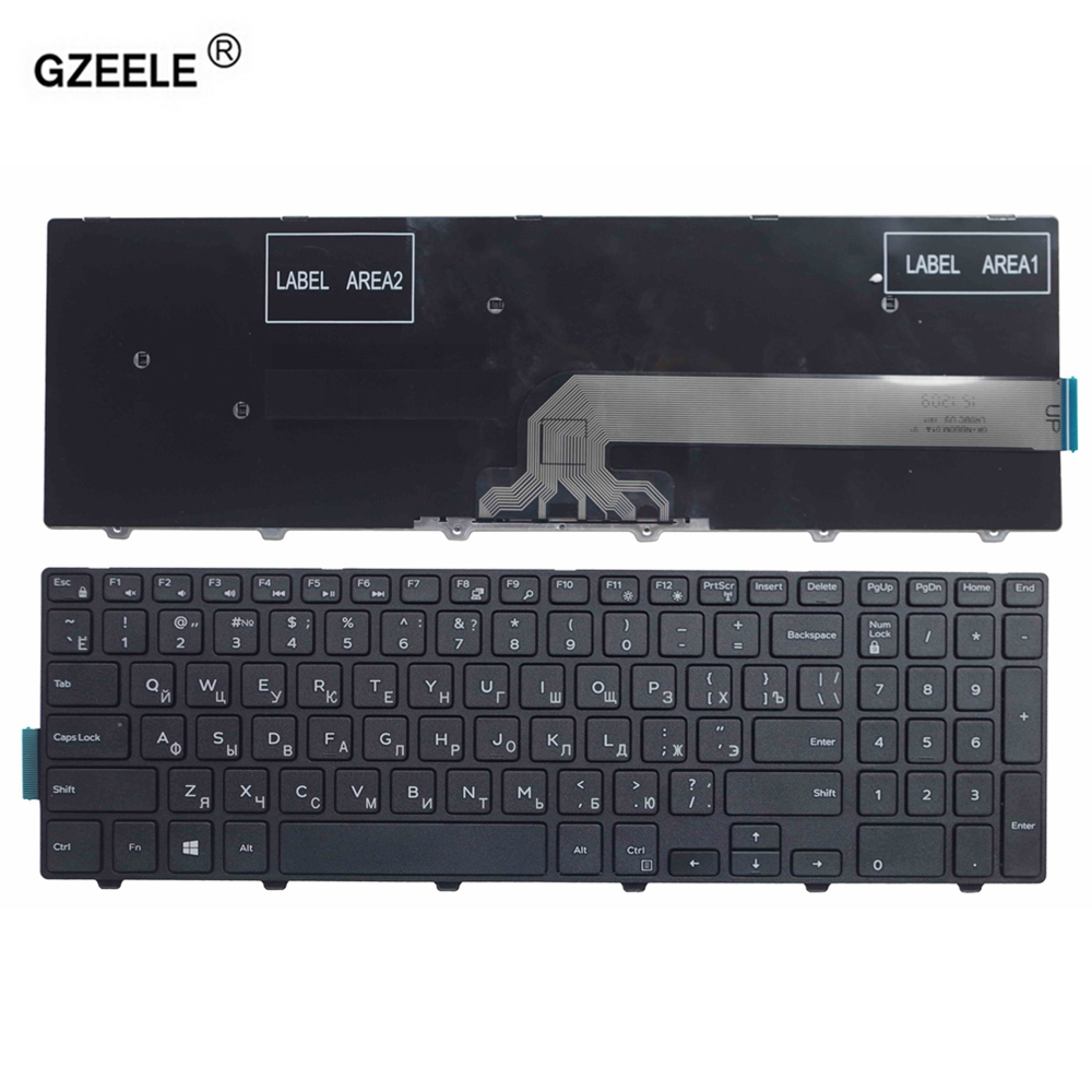 GZEELE Laptop Keyboard For DELL Inspiron 15 3551 3558 3543 3550 5543 5548 5542 5552 5759 7557 5551 5555 5558 RU Layout RUSSIAN