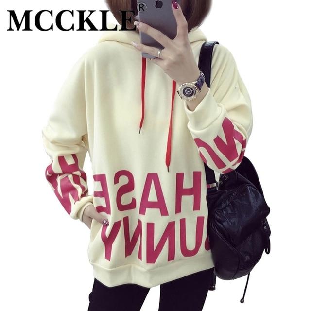 Mcckle harajuku hoodies mulher moda camisolas com capuz com orelhas bonito letras impressas grosso estudante ocasional camisola do hoodie