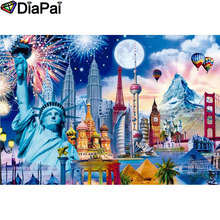 DIAPAI 100% Full Square/Round Drill 5D DIY Diamond Painting City fireworks Embroidery Cross Stitch 3D Decor A18728