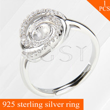 LGSY adjustable pearls rings accessories with shining Cyclone shape