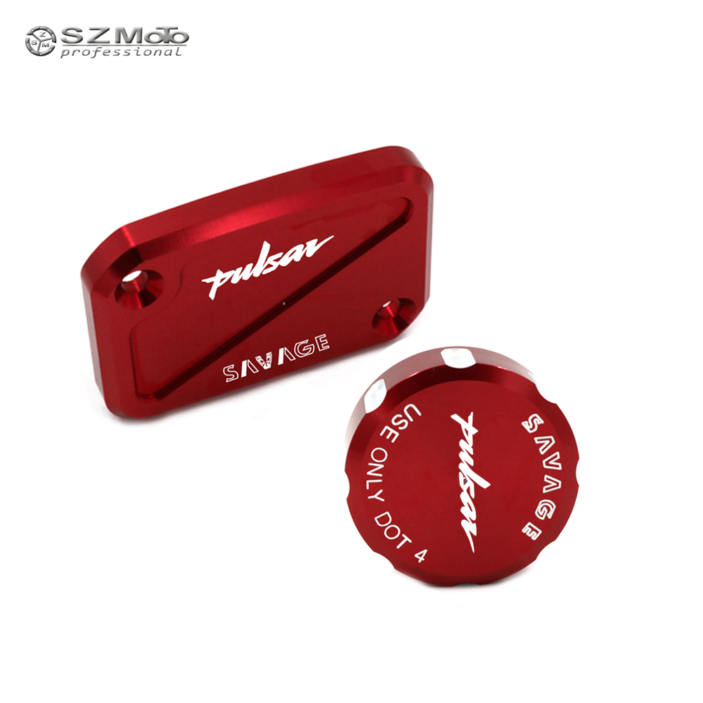 Front Rear Brake Master Cylinder Fluid Reservoir Cover Cap For <font><b>Bajaj</b></font> <font><b>Pulsar</b></font> <font><b>200</b></font> <font><b>NS</b></font> RS AS 200NS 200RS 200AS 2012-2018 Motorcycle image
