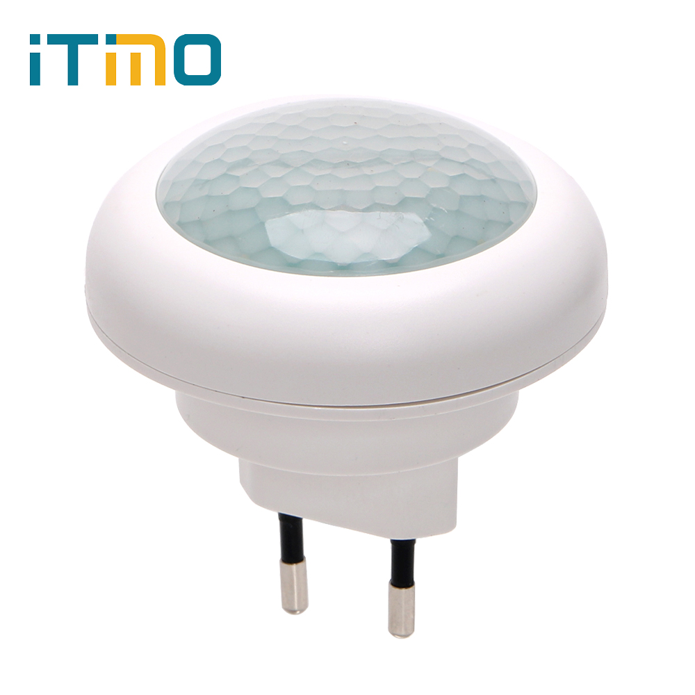 iTimo LED Night Light Socket Lamp Energy Saving Emergency Lamp for Corridor Stair Bedroom Luminaire With Motion Sensor EU Plug plug in electricity style corridor fire emergency light led safety export indicator sign vacuation passageway marker light