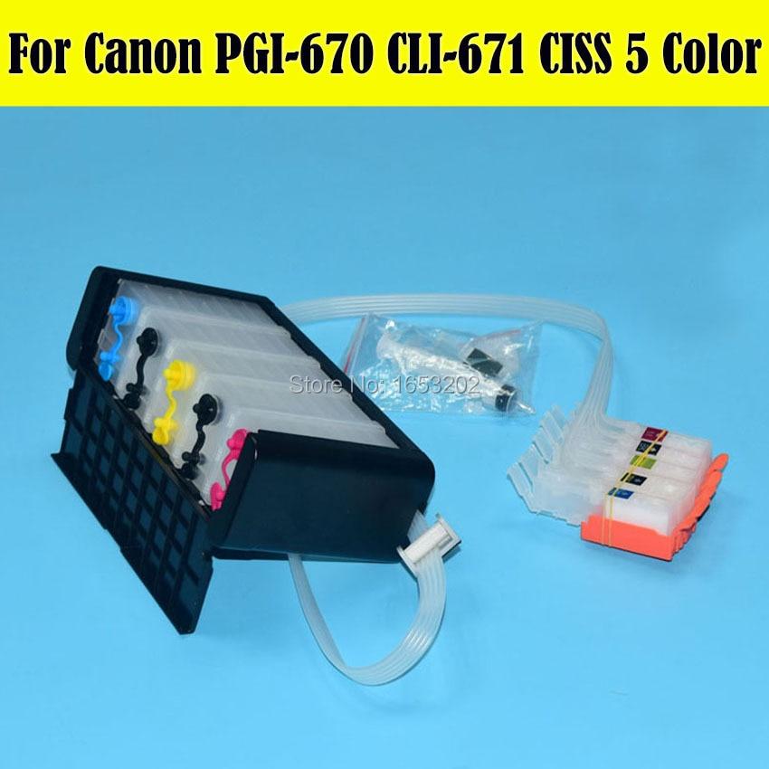 1 Set Newest Ciss For Canon PIXMA MG5760 MG6860 Printer Ciss For PGI-670 CLI-671 Cartridge With Auto Reset Chip цена 2016