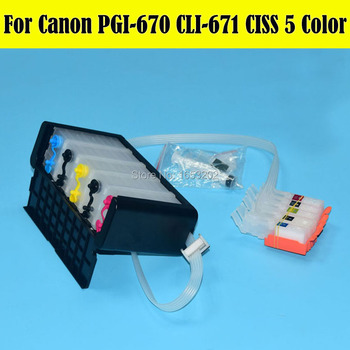 1 Set Newest Ciss For Canon PIXMA MG5760 MG6860 Printer Ciss For PGI-670 CLI-671 Cartridge With Auto Reset Chip
