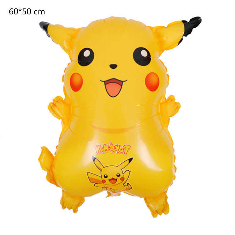 Kartun Pokemon Pikachu Balon Foil Digital Monsterr Balon Pesta Ulang Tahun Anak-anak Digimon Balon Dekorasi Perlengkapan Hadiah untuk Anak-anak