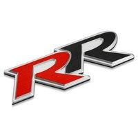 Auto Sticker Embleem Badge Voor Honda Civic RR Letters Staart Geborsteld Aluminium Rood & Zwart 10.6x2.8 cm Tuning auto Styling Accessoires