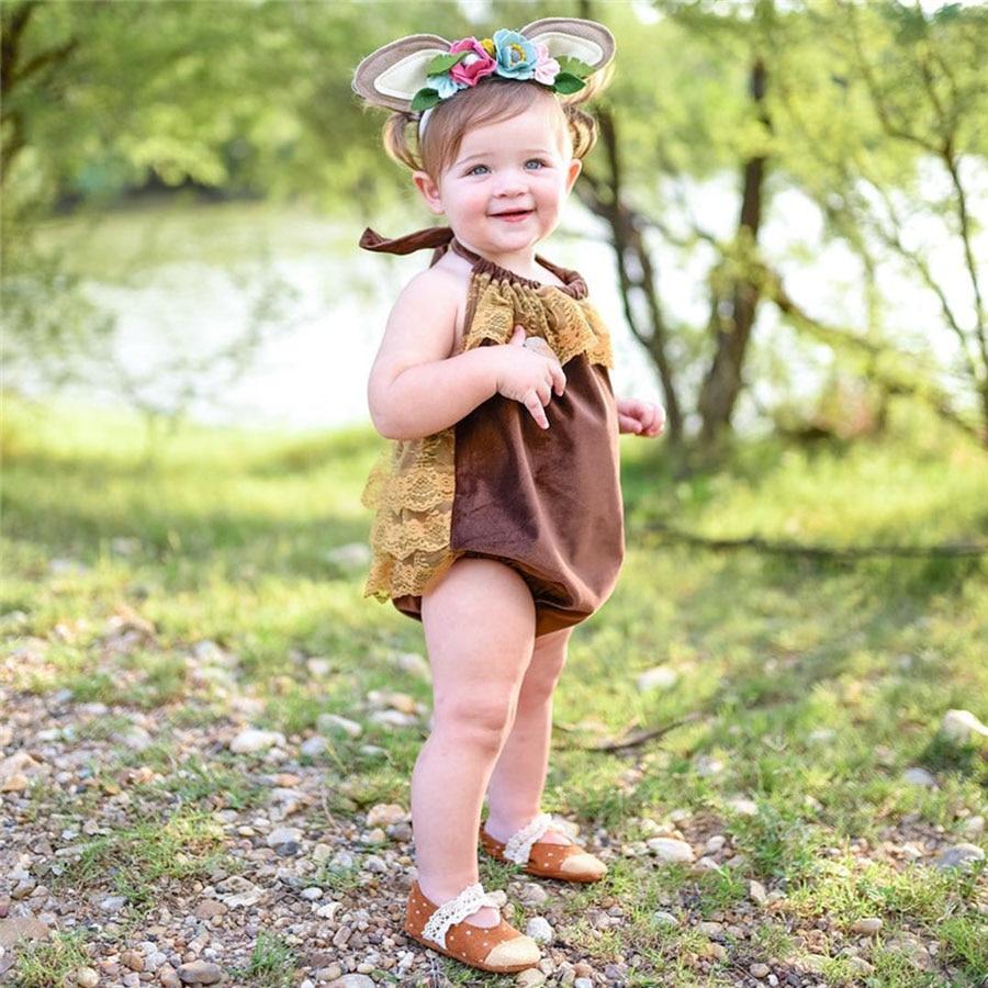 Lato noworodka dziewczynek koronki body bawełna bez rękawów - Odzież dla niemowląt - Zdjęcie 2