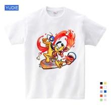 Cartoon Children Mickey Kids T Shirts Mouse Short Sleeve T-shirt Donald Baby / Boy / Girl T Shirt Summer O-Neck Shirt YUDIE donald weis t t solo rules