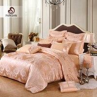 ParkShin Tibutle Silk Bedding Set Luxury Tencel Silk Duvet Cover Bedspread Camel Bed Linen Set Jacquard Queen King Bedclothes