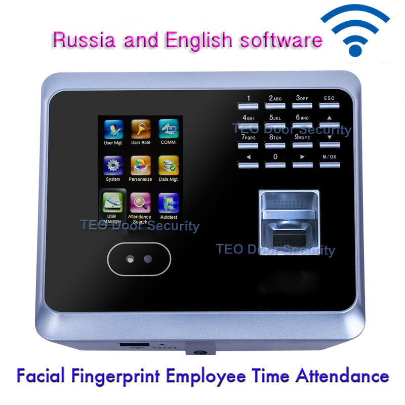 Biometric Facial Fingerprint Employee Time Attendance UF100PlusLow Cost Face Recognition System Face Employee Time Clock